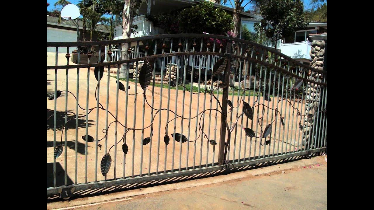 Iron Gates San Diego Wrought Iron Gate Gate Fence San