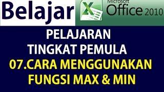 Belajar Rumus Fungsi Microsoft Excel 2010 FUNGSI  MAX   MIN