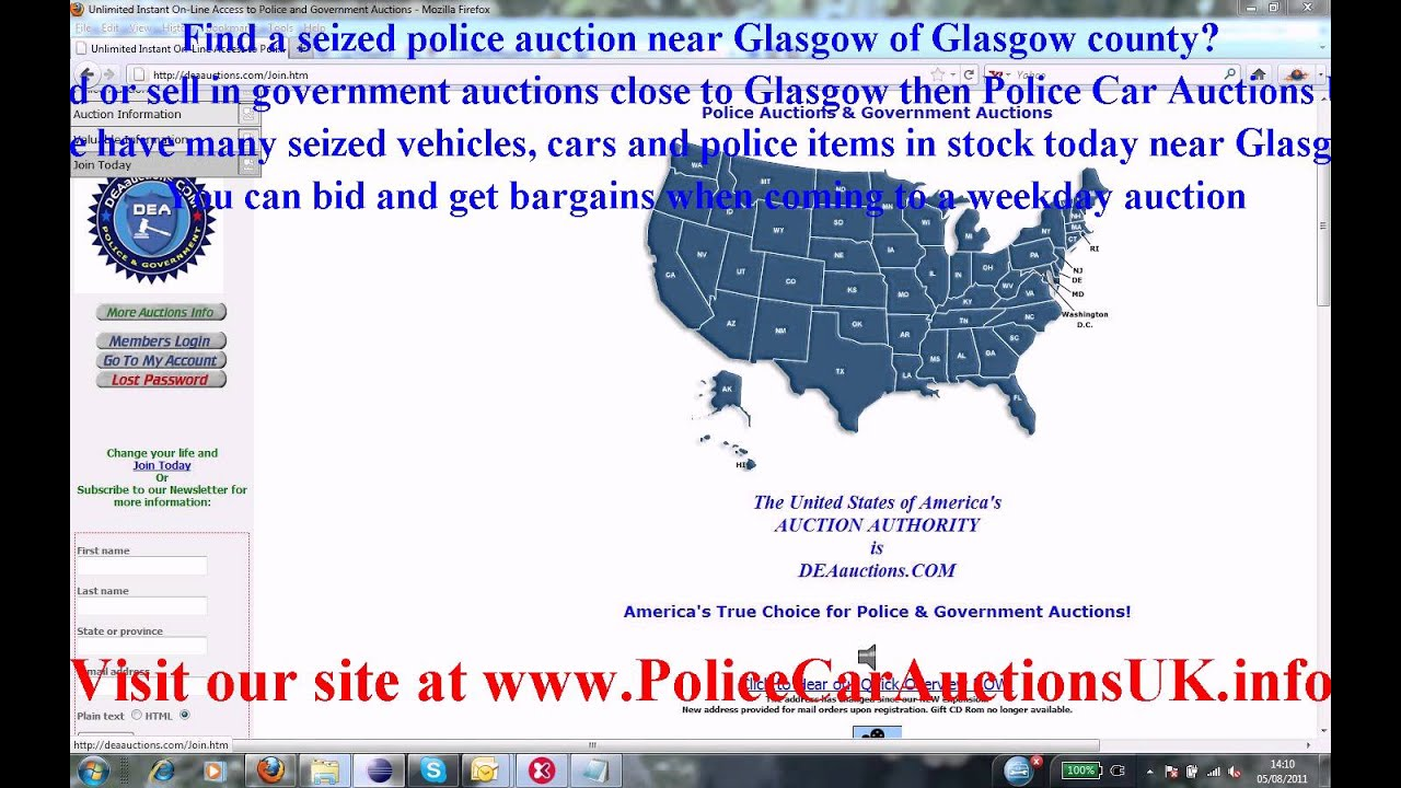 Police auctions glasgow