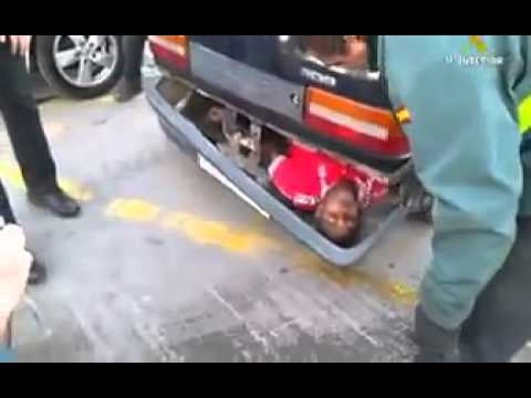 Illegal immigrant hidden in a bumper