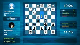 Chess Game Analysis: Shadiyar23 - Furher007 : 0-1 (By ChessFriends.com)