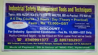 Industrial Safety Management Tools & Techniques || Kamalanagar || ECIL || zoneadds.com