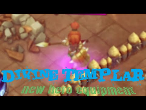 Castle Clash NEW Hero DIVINE TEMPLAR (equipment Hero)