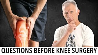 Questions to ask doctor about knee replacement surgery