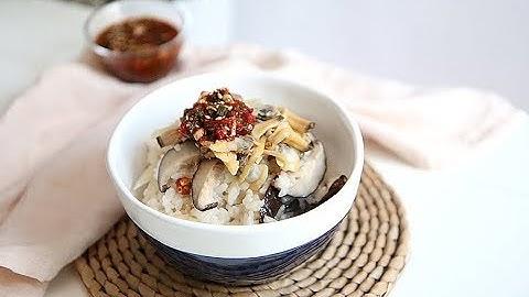 무밥 만드는 방법, 전기밥솥으로 쉽게~ 양념장도 맛있게! 영양식 표고버섯무밥 만들기