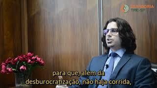 O juiz ouvidor do Tribunal, Dr. Vitor Gambassi Pereira, explica o funcionamento da Ouvidoria e ressalta a importância da participação dos cidadãos, principais ...