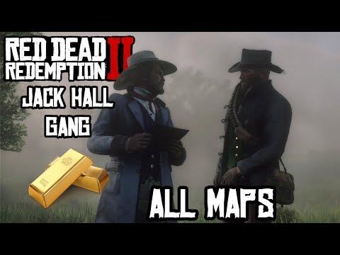 Все карты и локации сокровища банды Джека Холла в Red Dead Redemption 2