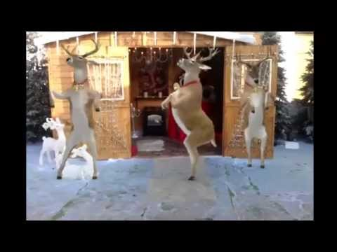 Santa and Reindeer Dancing - Merry Christmas - Happy New Year 2016 / 2017