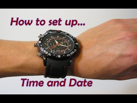 how to change time on timewerk berlin hd camera watch