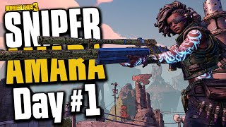 INSANE LUCK?! - Sniper Amara | Day #1 [Borderlands 3]
