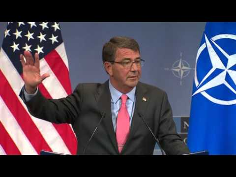 U.S. Secretary of Defense Ash Carter press conference at NATO Headquarters in Brussels, Belgium.