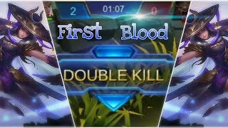 How to get first blood with Fanny  | طريقة حصول على دم الاول في فاني | Mobile legends Bang Bang