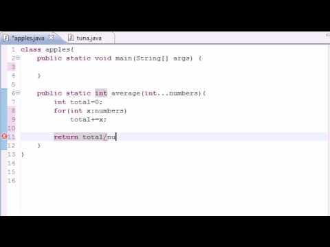 Java Programming Tutorial - 35 - Variable Length Arguments