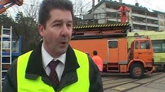 Une automotrice du Littorail déraille à Neuchâtel gros dégâts 25.03.09. RTN ArcInfo-L'Express