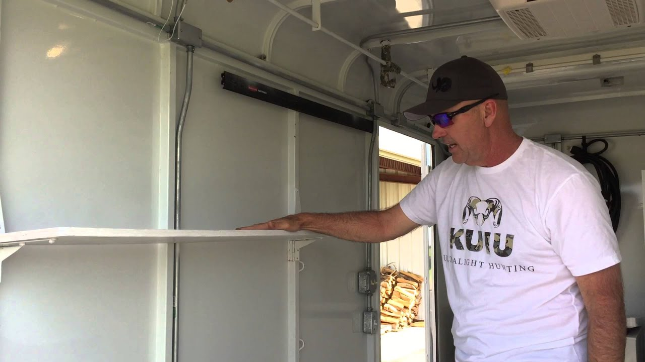 Man Cave Trailer : Cargo trailer hunting quot man cave video youtube