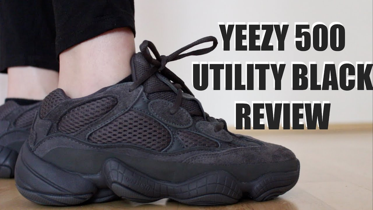 sports shoes 8ee99 27a70 YEEZY 500 UTILITY BLACK REVIEW + ON FEET & SIZING