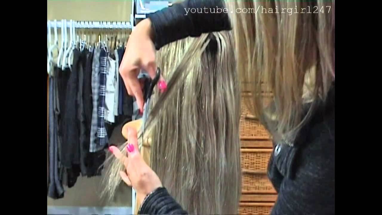 How I Layer My Clip In Hair Extensions Youtube
