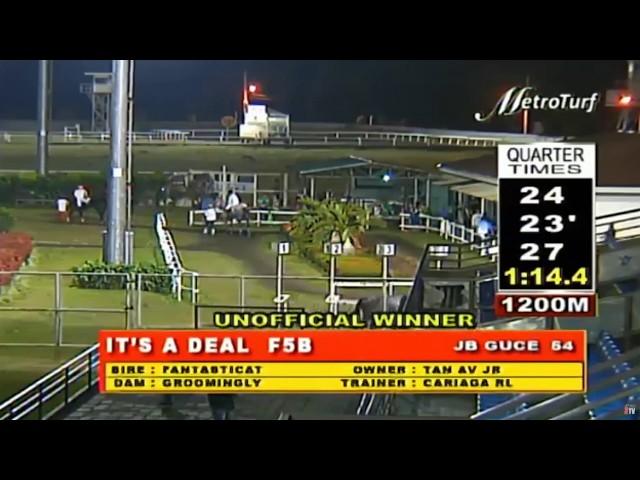 IT'S A DEAL - FEBRUARY 26, 2020 - MMTCI RACE 4 - BAYANG KARERISTA HORSE RACING REPLAY AT METRO TURF