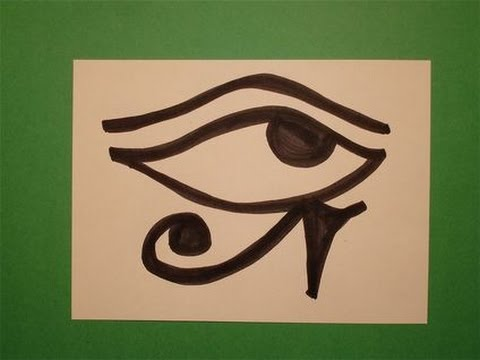 lets draw the egyptian eye of horus youtube