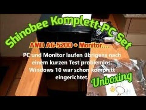 Shinobee AMD A6-5200 Win10 Pro KOMPLETT-PC inkl. ASUS 22