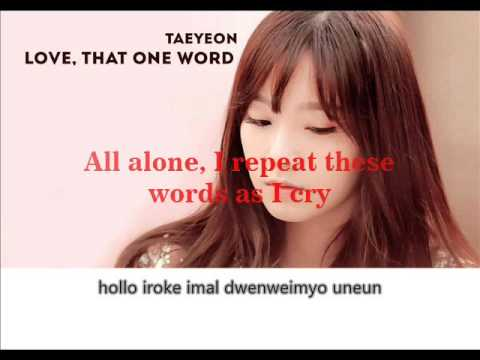 [Karaoke] Intrument Taeyeon (태연) - Love, That One Word  Lyrics (Eng & Rom) You're All Surrounded OST
