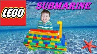 строим из ЛЕГО Батискаф  подводная лодка  Submarine  LEGO  Лего конструктор  Lego бум