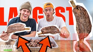 Cooking the WORLDS MOST EXPENSIVE RIBS! ( 1v1 Eating Challenge )