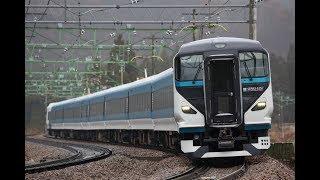 E257系2000番台(特急踊り子用) NA-10編成 新潟車両センター疎開