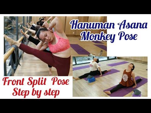 Hanumanasana || Monkey Pose || How to do front split for beginners step by step(English/Vietnamese)