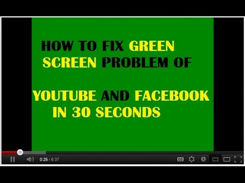 How to Fix green Screen Problem in Facebook and YouTube in ...