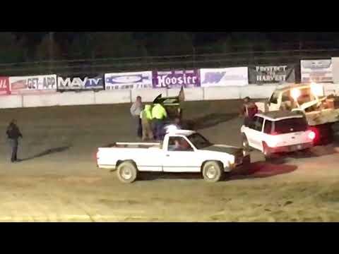 Joshua Gentry 12G Grayson County Speedway Heat Race Flip 4-14-18