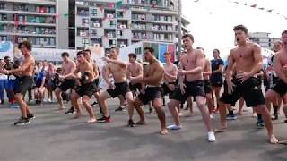 Powerful haka for gold medallist Dylan McCullough