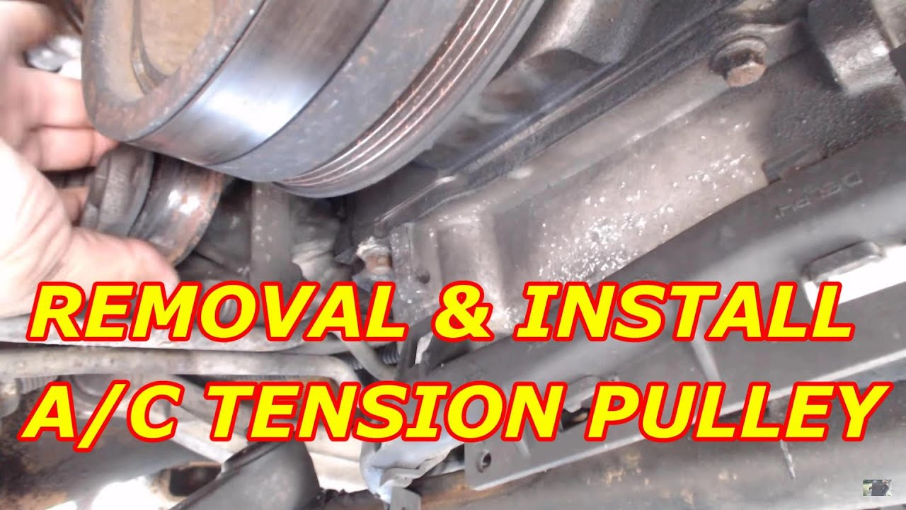 medium resolution of how to replace a chevy tahoe ac belt tension pulley
