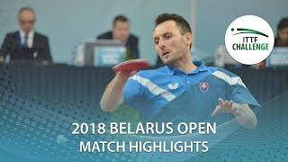 Lubomir Pistej vs Antoine Hachard | 2018 ITTF Challenge Belarus Open Highlights (R16)