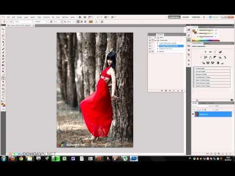 Học photoshop - Cách sử dụng Action trong photoshop - Dohoafx.com tutorial