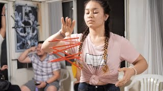 Back Flip | Pencil Catching Challenge! (Minute to Win It)