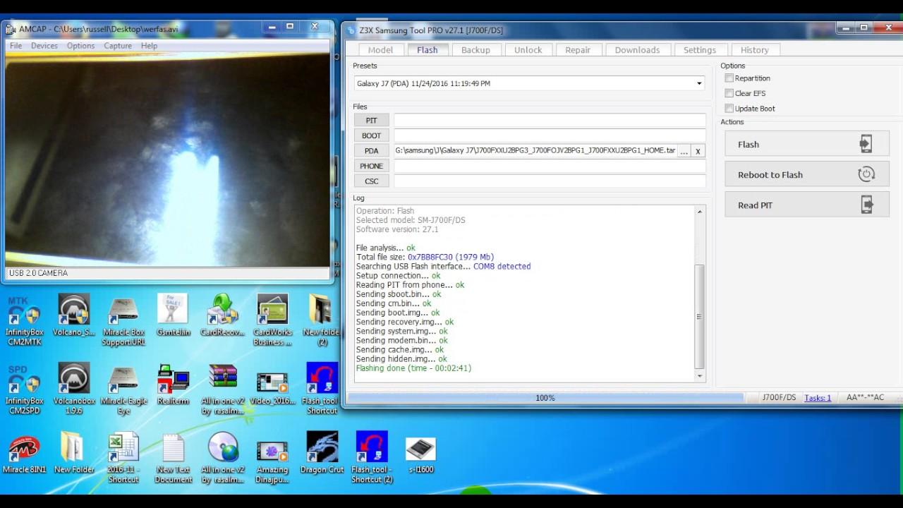 Samsung J700F FRP Remove With Z3X