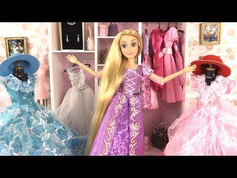 Poupées Princesses Raiponce Elsa Robes et Accessoires (Barbie Dress Up) thumbnail
