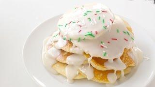 Fluffy EGGNOG Pancakes  RECIPE