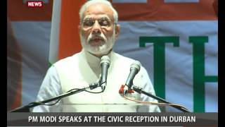 PM Modi at Reception hosted by Mayor, Durban City hall in Durban