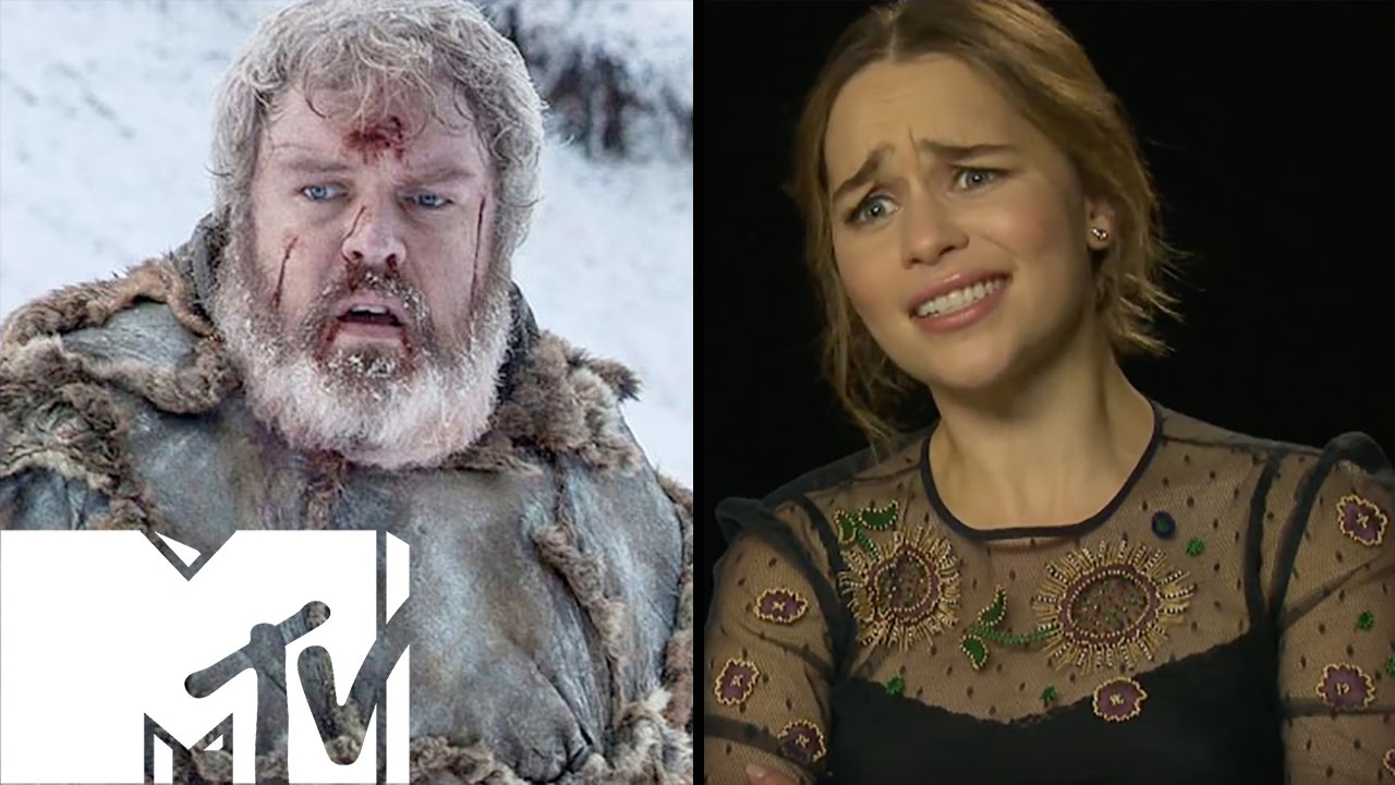 emilia clarke reacts to hodor game of thrones moment mtv movies youtube. Black Bedroom Furniture Sets. Home Design Ideas