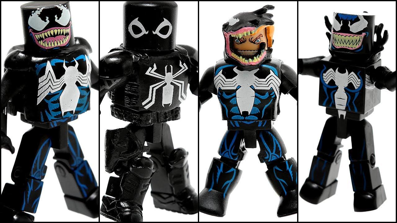 Marvel Minimates Venom Through The Ages Boxset YouTube