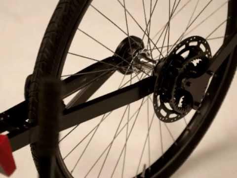 Recumbent bike- rear wheel steering