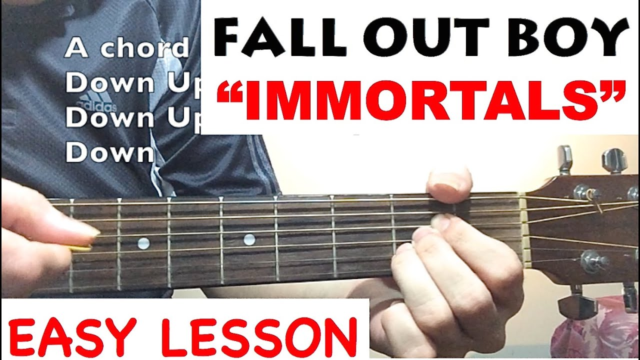 Immortals Fall Out Boy Guitar Tutorial Youtube