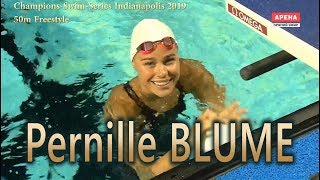 Pernille BLUME Champions-Swim-Series Indianapolis 2019   50m Freestyle
