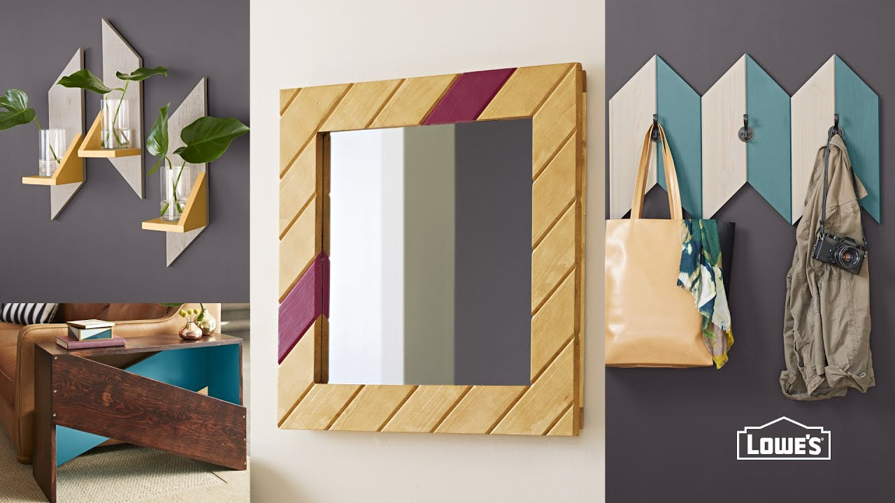 Easy DIY Wooden Mirror Frame - YouTube