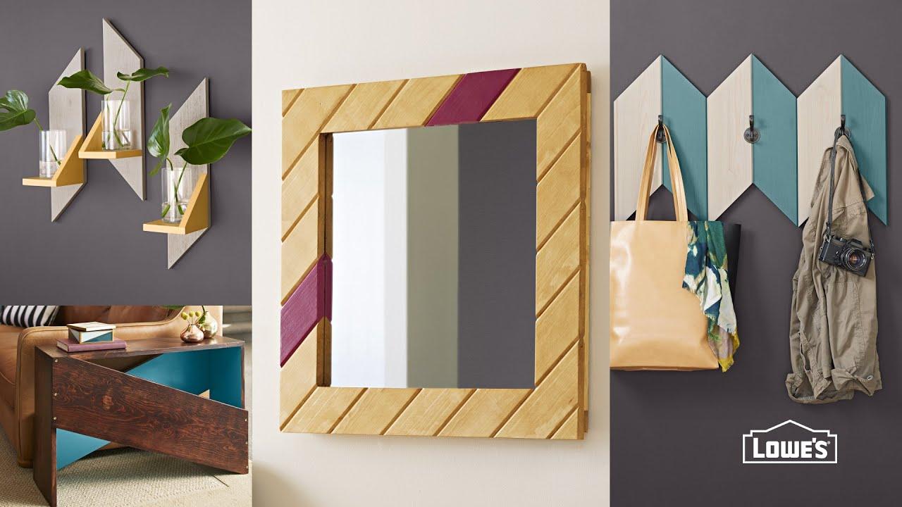 Easy DIY Wooden Mirror Frame - YouTube