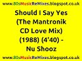 Should I Say Yes The Mantronik CD Love Mix Nu Shooz mp3