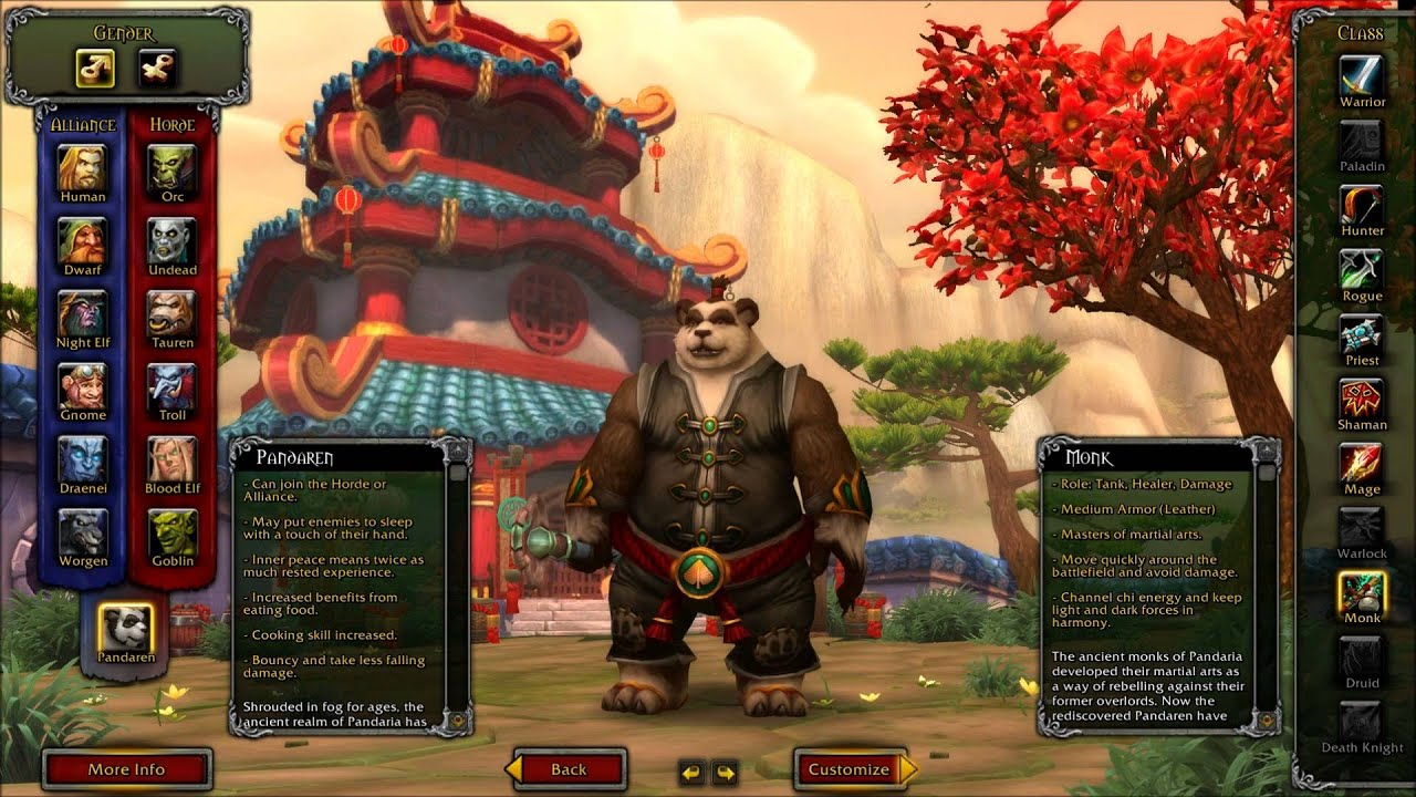 Wow mists of pandaria best race and class combos pandraxhd youtube