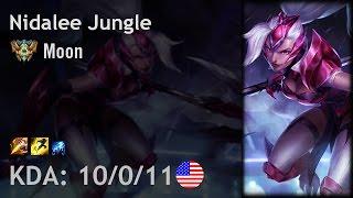 Nidalee Jungle vs Lee Sin - Moon - NA Challenger Patch 6.24